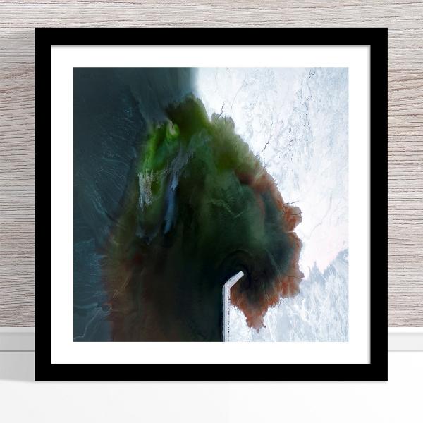 Chris Saunders - 'Aerial Salt 053' Black Frame