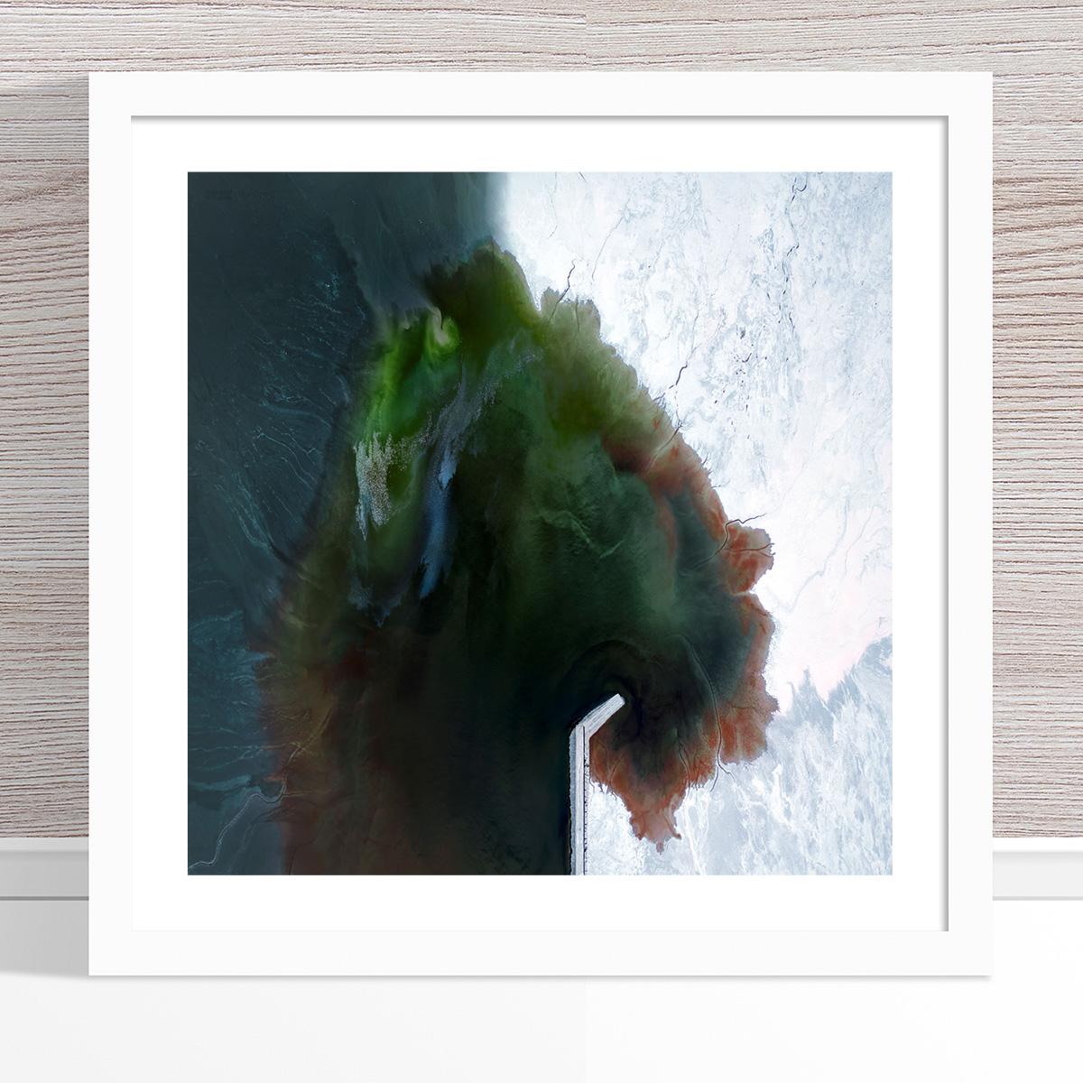 Chris Saunders - 'Aerial Salt 053' White Frame