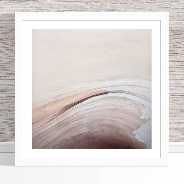 Chris Saunders - 'Aerial Salt 054' White Frame