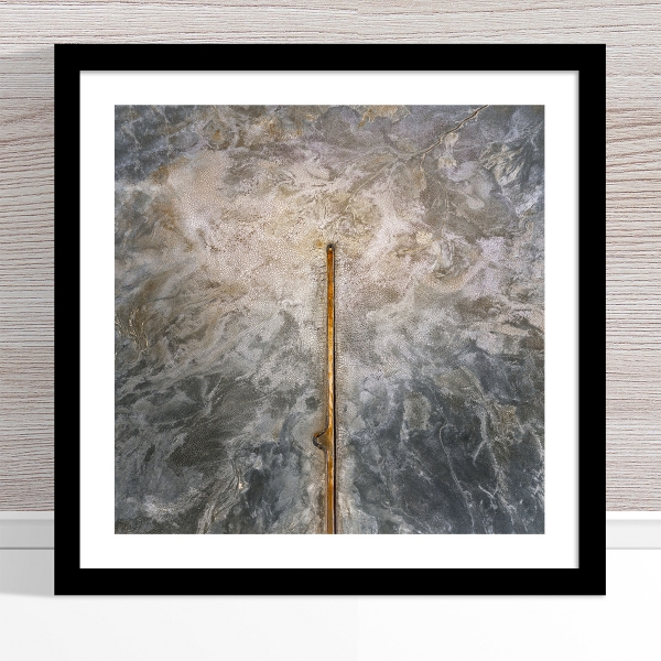 Chris Saunders - 'Aerial Salt 055' Black Frame