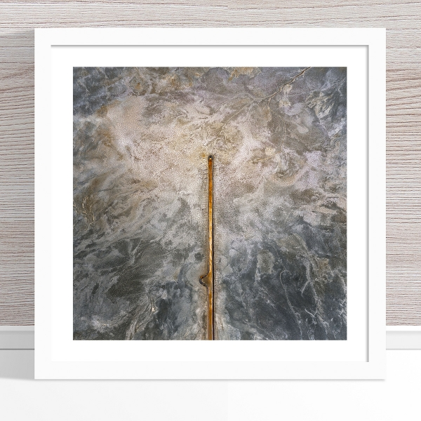 Chris Saunders - 'Aerial Salt 055' White Frame