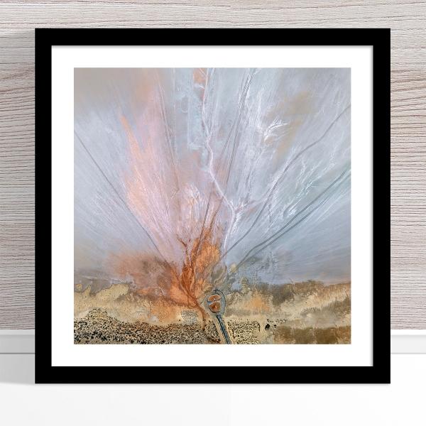 Chris Saunders - 'Aerial Salt 056' Black Frame