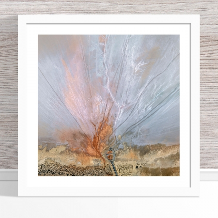 Chris Saunders - 'Aerial Salt 056' White Frame