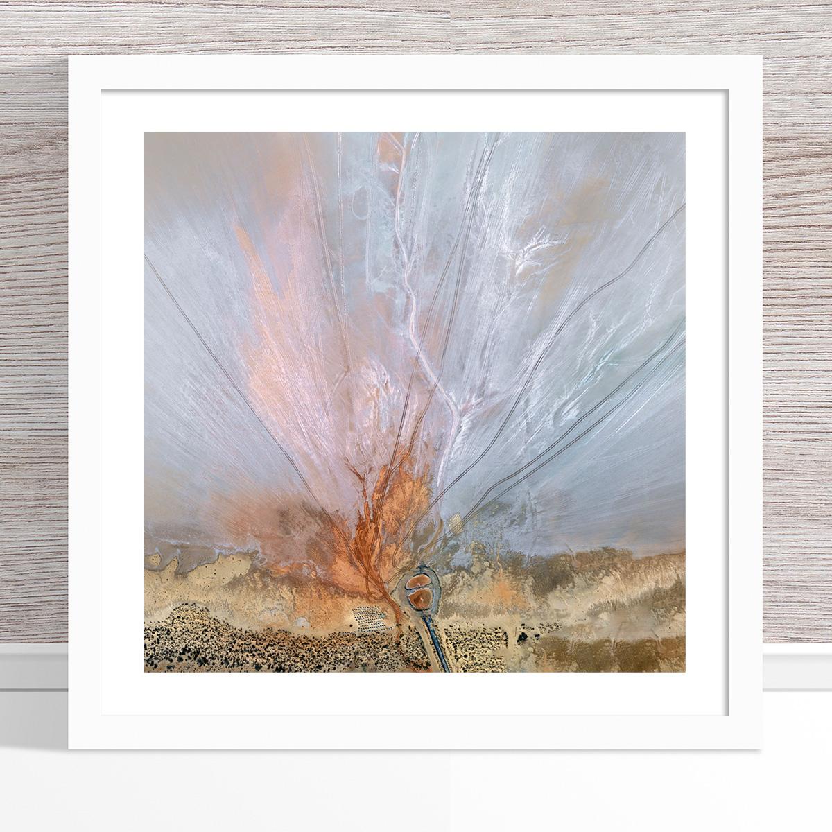 Chris Saunders - 'Aerial Salt 056' White Frame