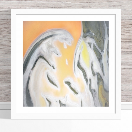 Chris Saunders - 'Aerial Salt 057' White Frame