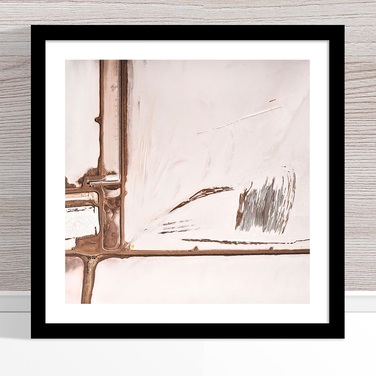 Chris Saunders - 'Aerial Salt 059' Black Frame