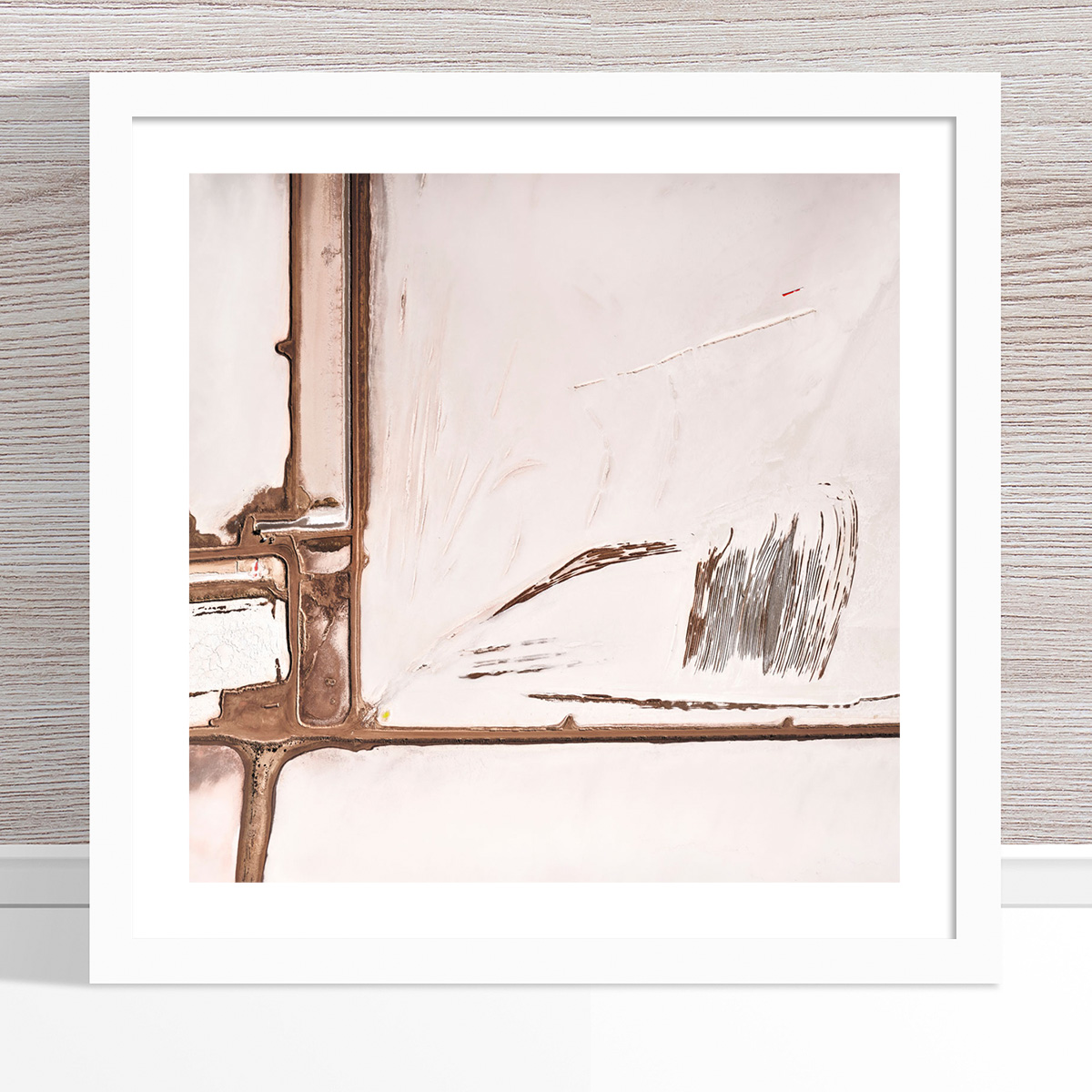 Chris Saunders - 'Aerial Salt 059' White Frame