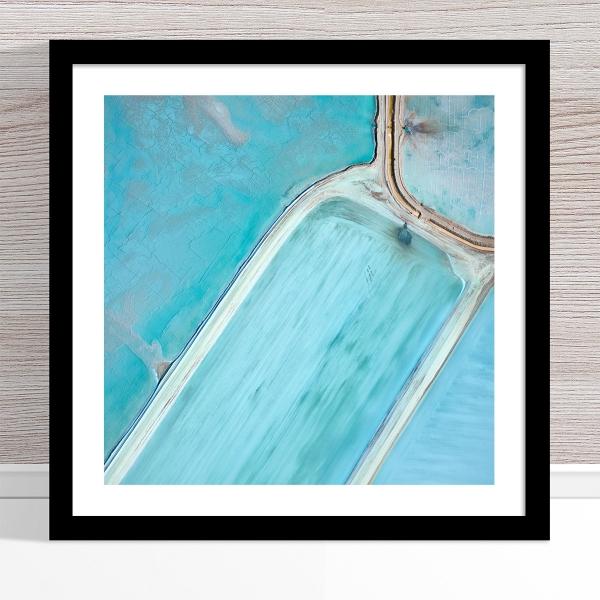 Chris Saunders - 'Aerial Salt 061' Black Frame