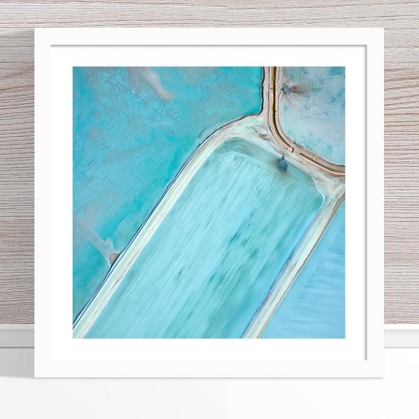 Chris Saunders - 'Aerial Salt 061' White Frame
