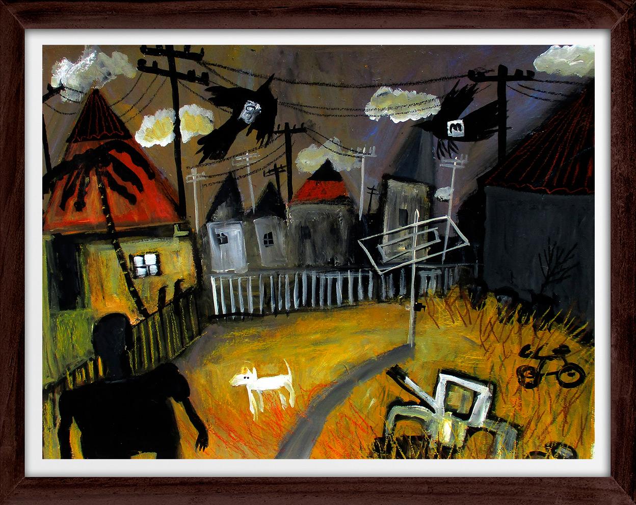Glenn Brady - 'Backyard' Framed