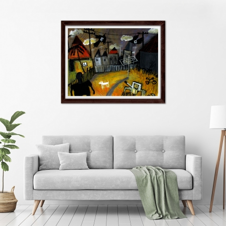 Glenn Brady - 'Backyard' Framed in a room