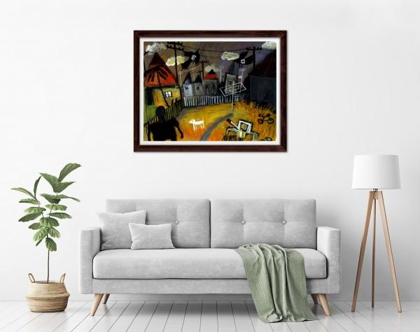 Glenn Brady - 'Backyard' Framed in a room