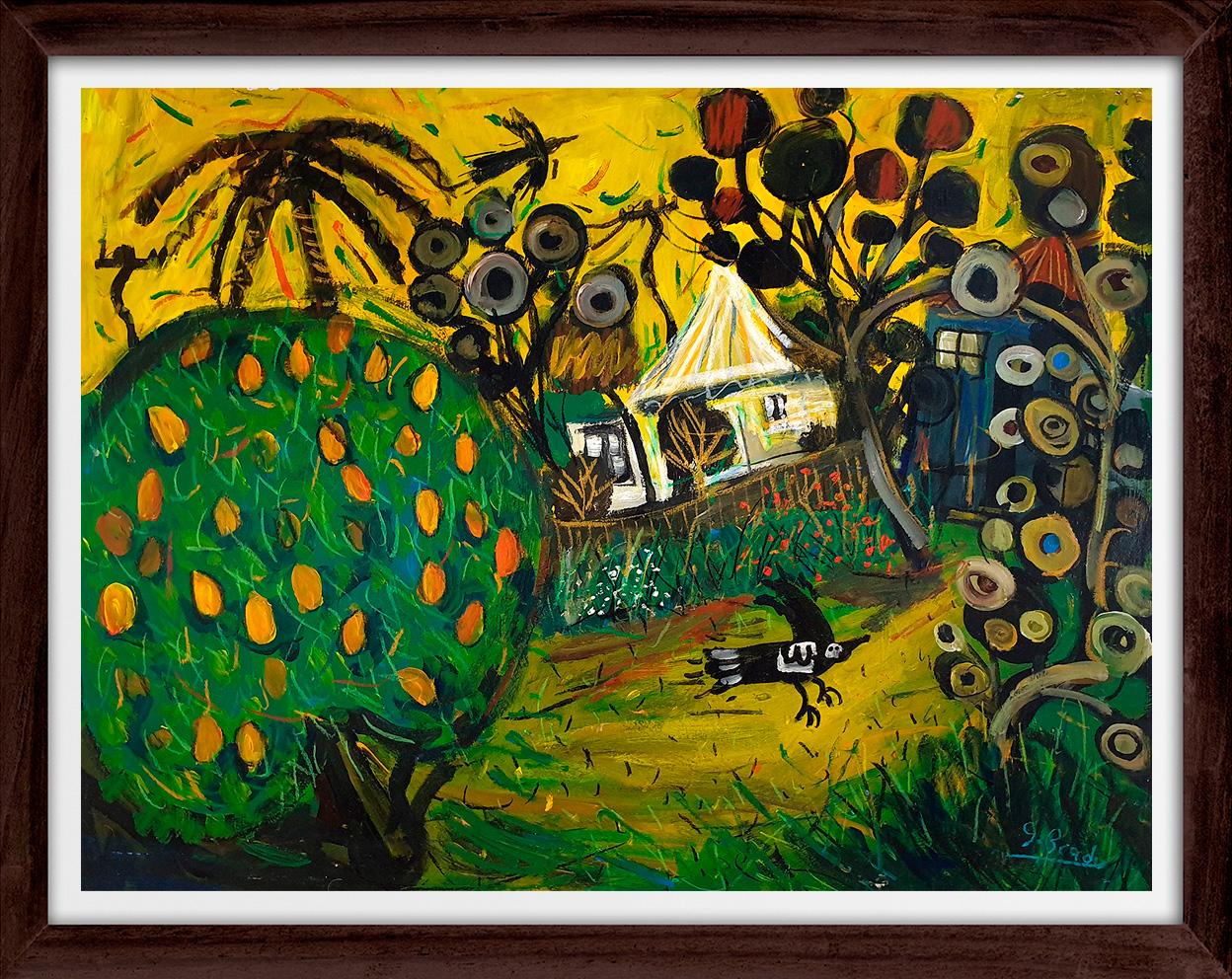 Glenn Brady - 'Backyard Mango Tree' Framed