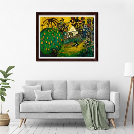 Glenn Brady - 'Backyard Mango Tree' Framed in a room