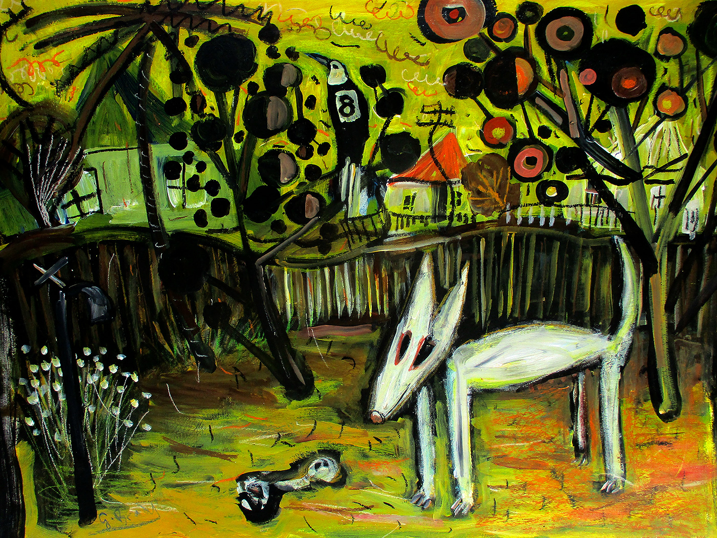 Glenn Brady - 'Bull Terrier in the Backyard'