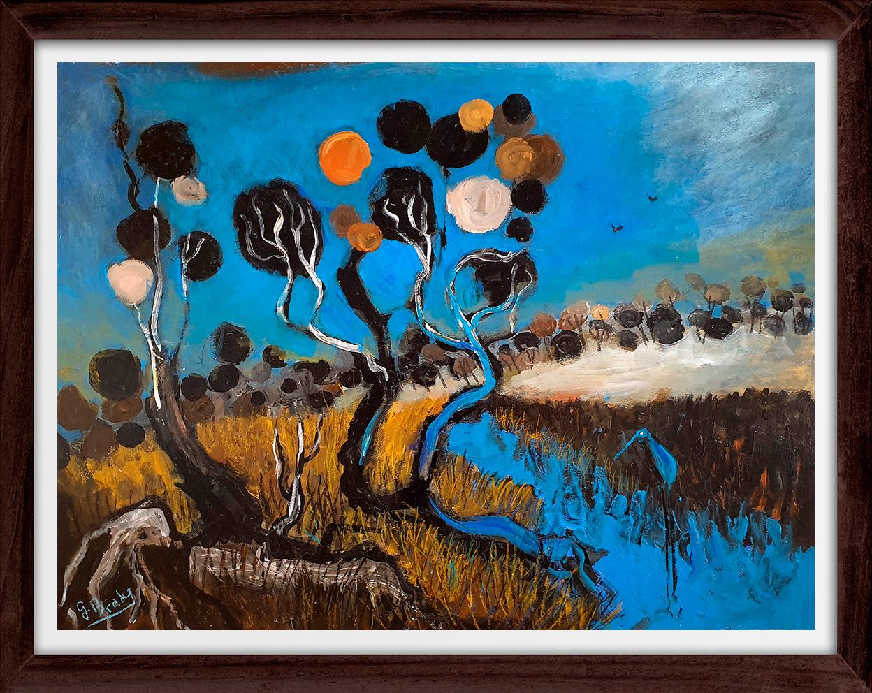 Glenn Brady - 'Circle Tree Creek' Framed