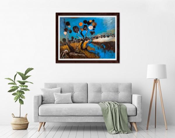 Glenn Brady - 'Circle Tree Creek' Framed in a room
