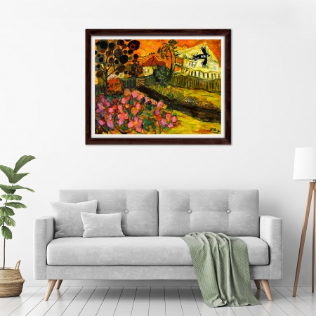 Glenn Brady - 'Front Yard Hibiscus' Framed in a room
