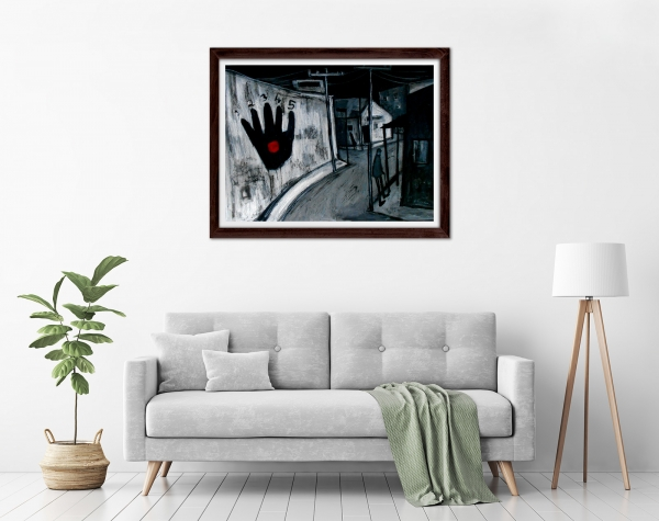 Glenn Brady - 'Hand' Framed in a room