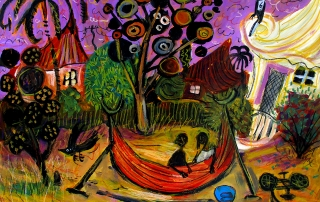 Glenn Brady - 'Kids in the Striped Hammock'