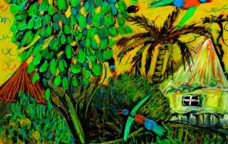 Glenn Brady - 'Lorikeets in the Umbrella Tree'