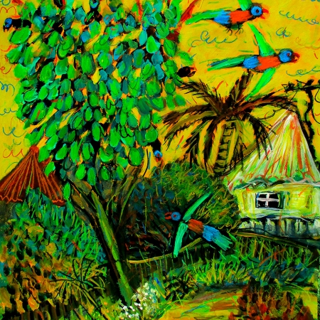 Glenn Brady - 'Lorikeets in the Umbrella Tree'