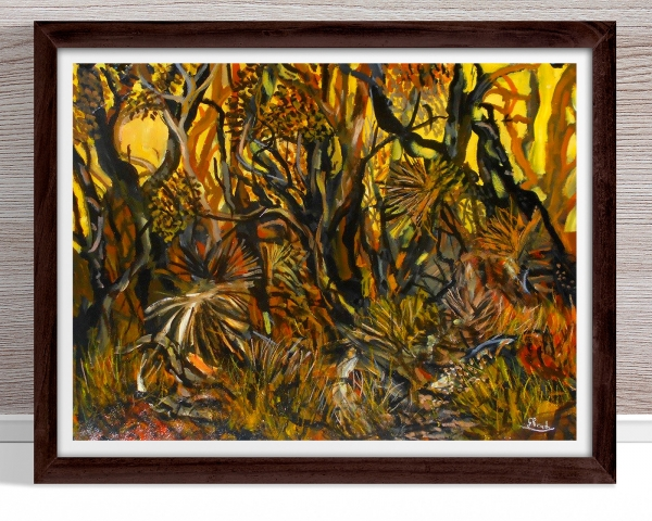 Glenn Brady - 'Australian Bush in 4 Colours' Framed