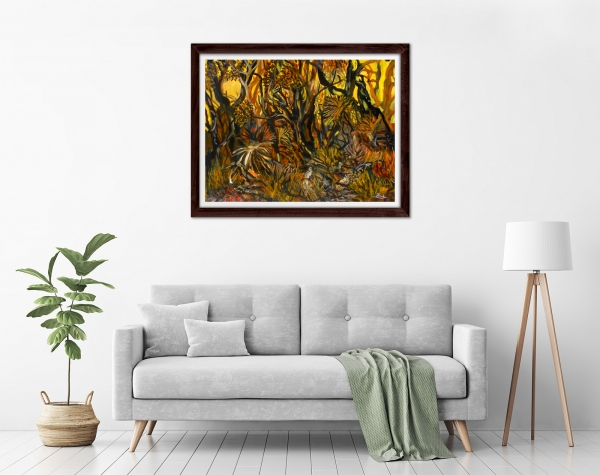 Glenn Brady - 'Australian Bush in 4 Colours' Framed in a room