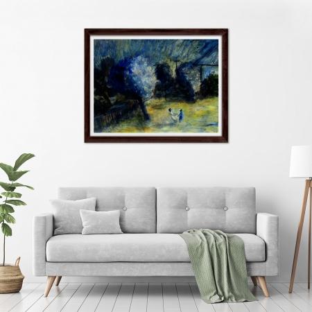 Glenn Brady - 'Backyard Trees and Children' Framed in a room