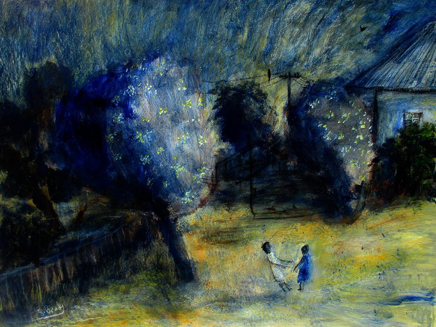 Glenn Brady - 'Backyard Trees and Children'