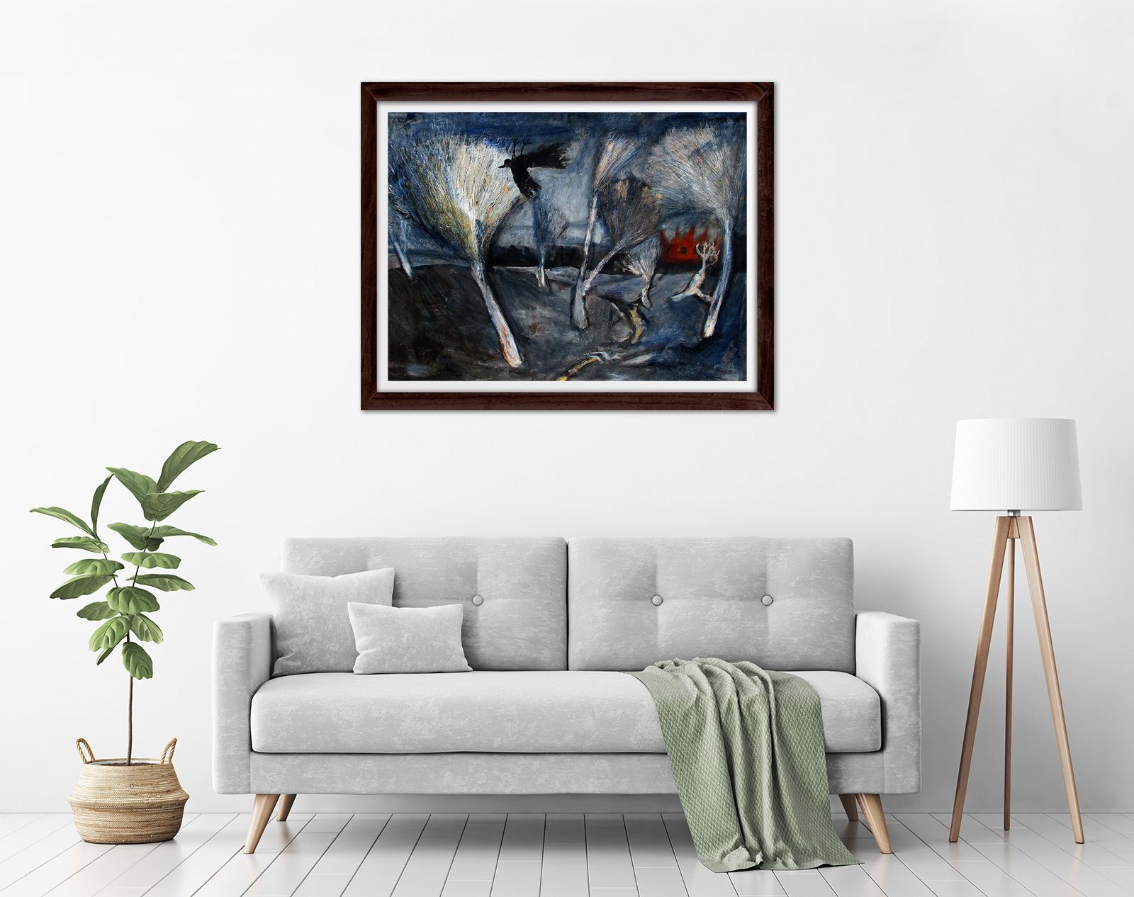 Glenn Brady - 'Bleached Landscape' Framed in a room