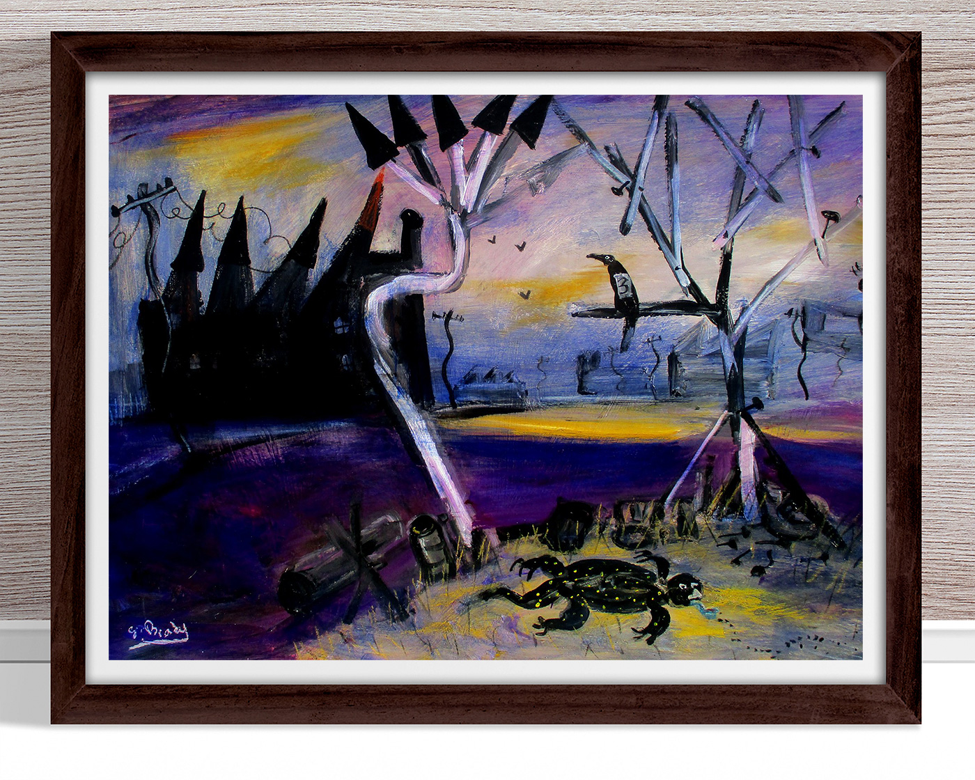 Glenn Brady - 'Blue Tongue Lizard' Framed