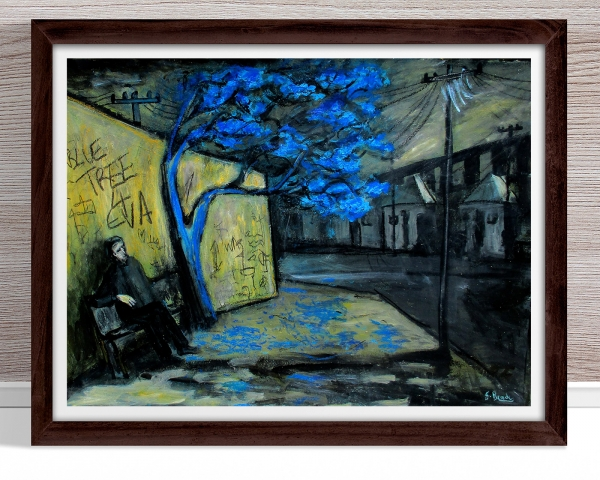 Glenn Brady - 'Blue Tree Forever' Framed