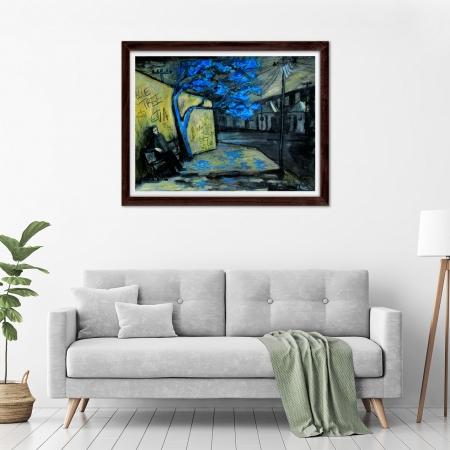 Glenn Brady - 'Blue Tree Forever' Framed in a room