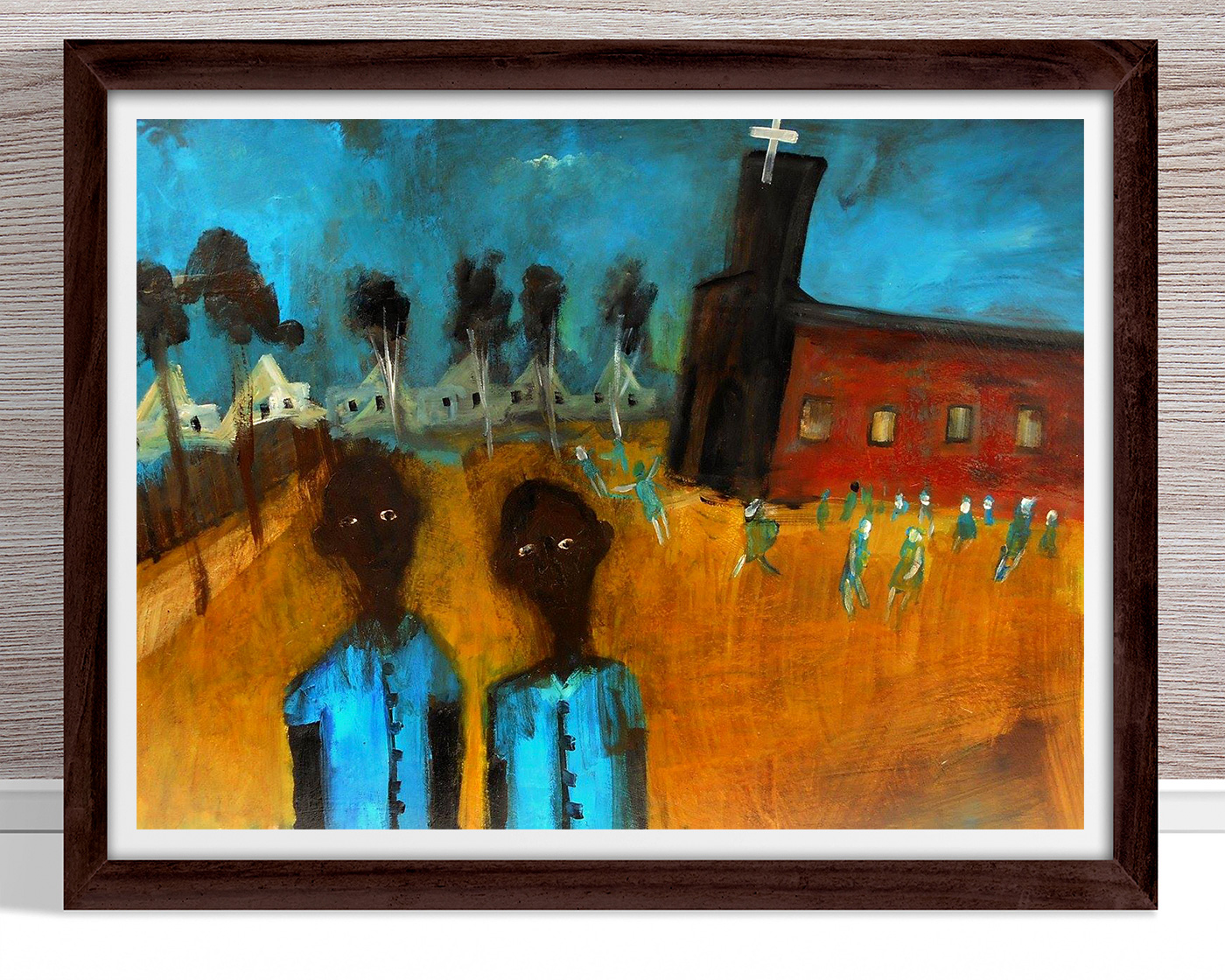 Glenn Brady - 'Boys at the Christian School' Framed