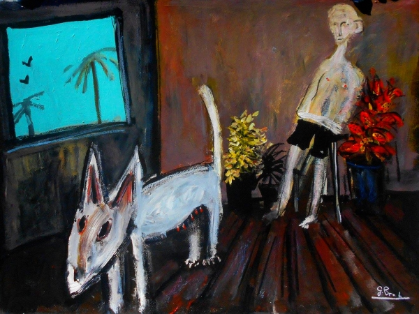 Glenn Brady - 'Bull Terrier and Man'