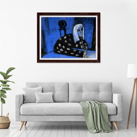 Glenn Brady - 'Colleen in Skull Pyjamas' Framed in a room