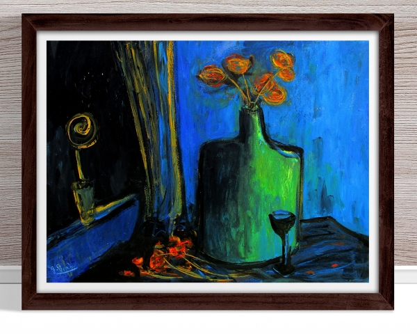 Glenn Brady - 'Flowers in a Flagon' Framed