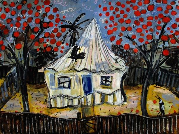 Glenn Brady - 'Front Yard Red Flower Trees'