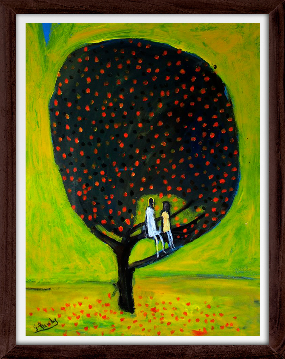 Glenn Brady - 'Girls in the Tree' Framed