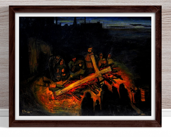 Glenn Brady - 'Homeless and Cross' Framed
