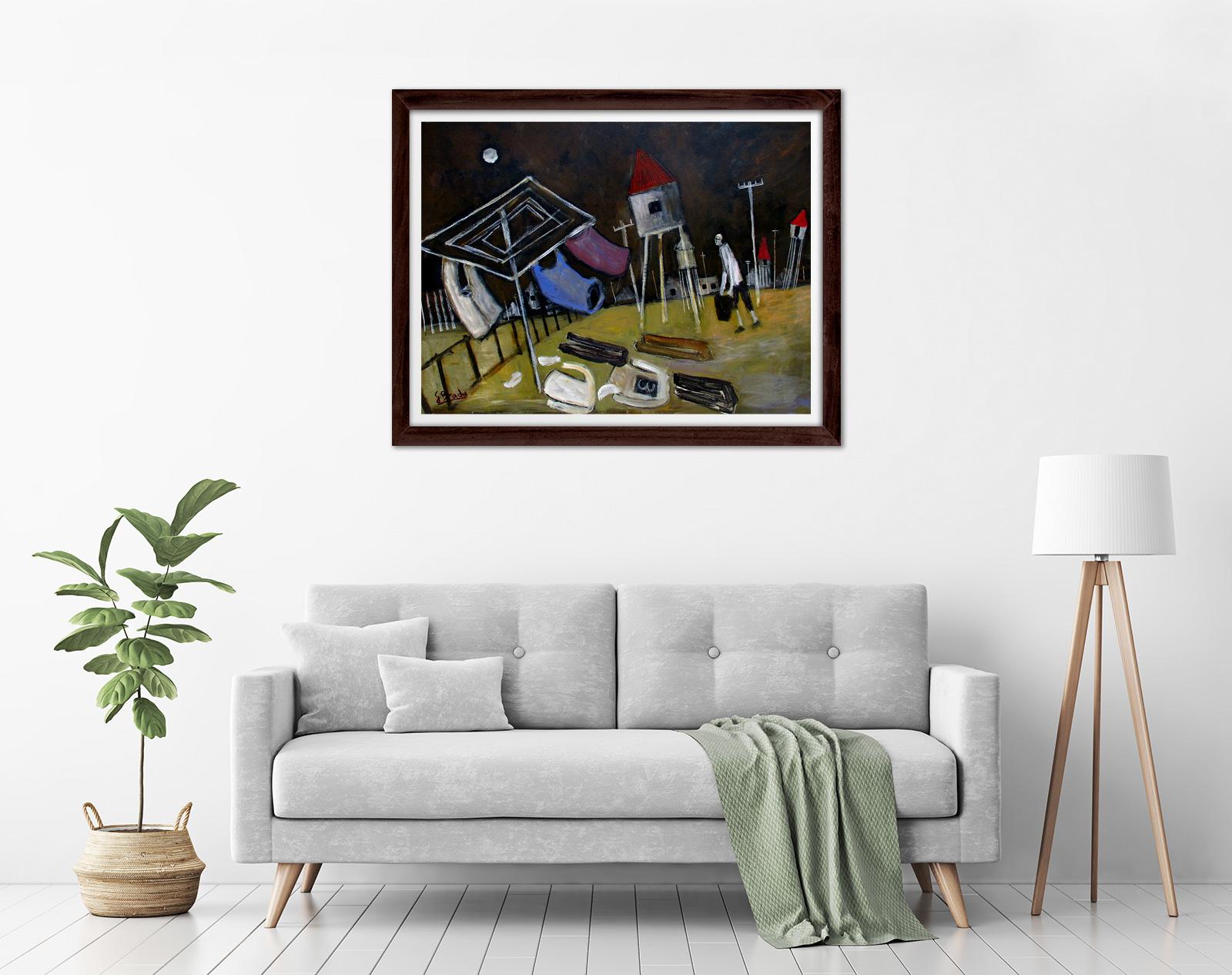 Glenn Brady - Kookaburra' Framed in a room