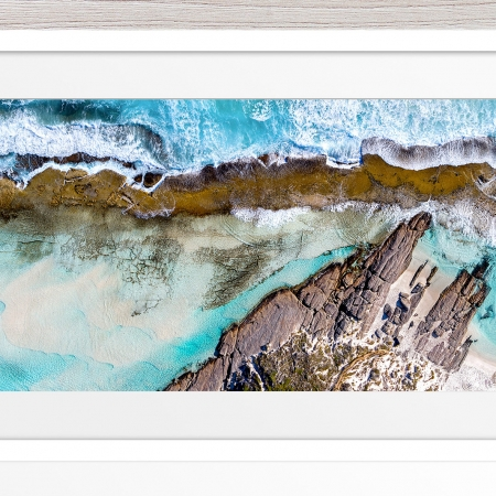 010 - Jason Mazur - '11 Mile Beach, Esperance' White Frame