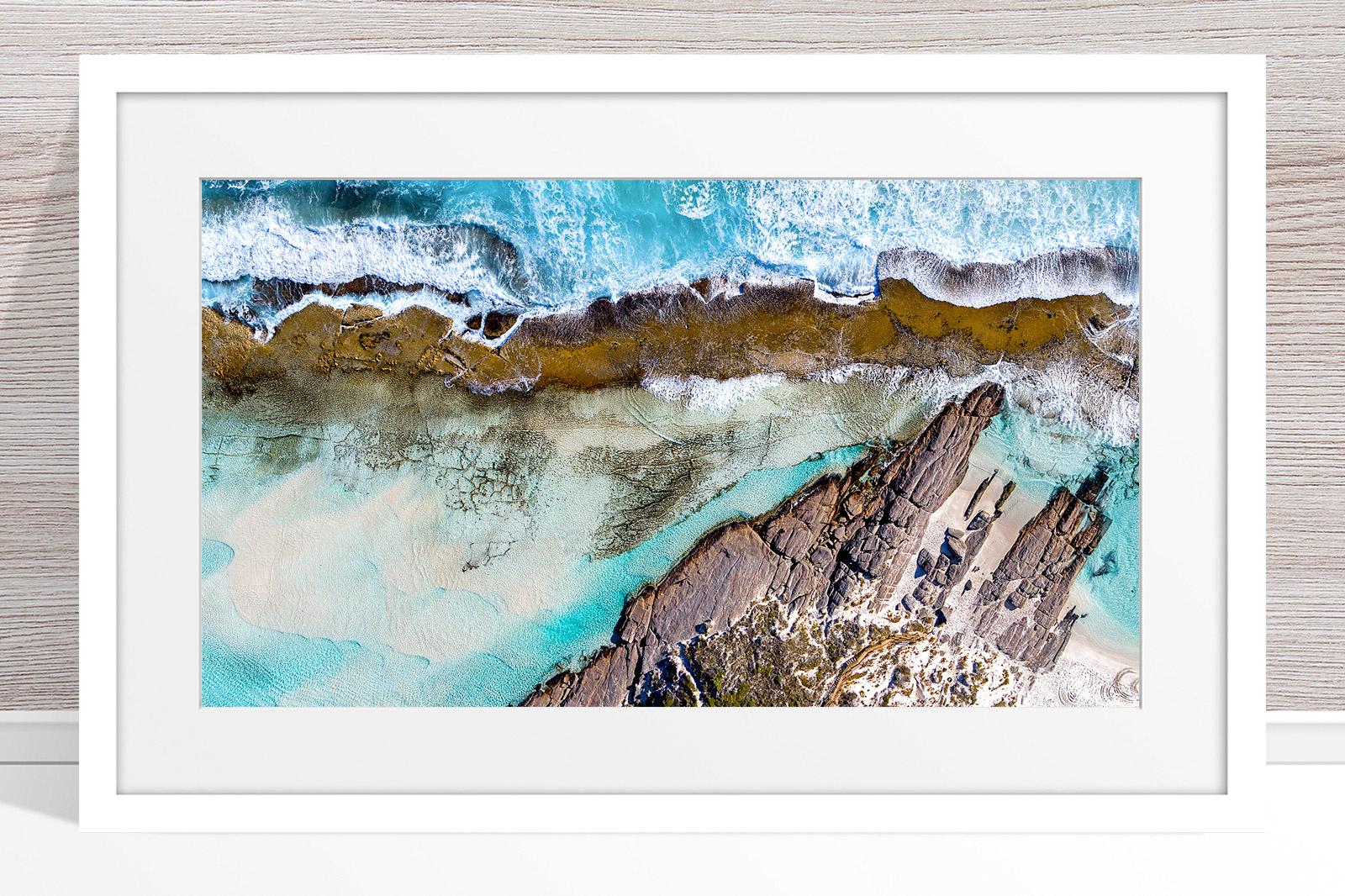 010 - Jason Mazur - '11 Mile Beach, Esperance' White Frame