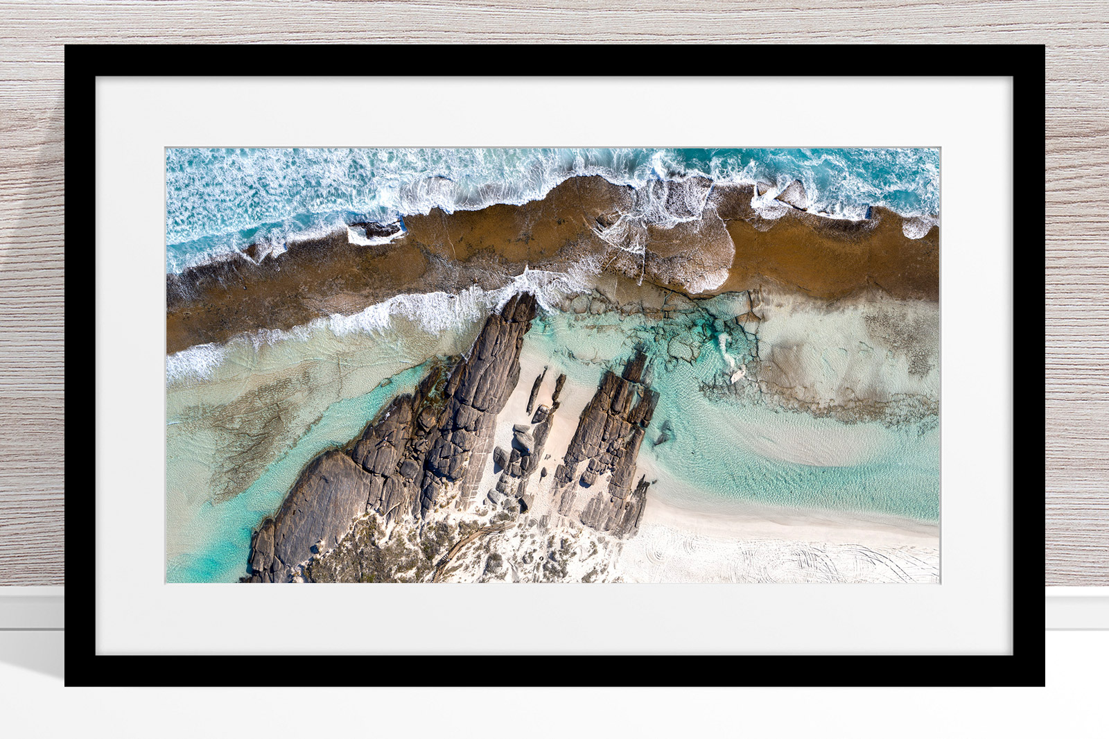010 - Jason Mazur - '11 Mile Beach, Esperance' Black Frame