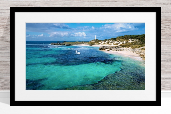 024 - Jason Mazur-'The Basin, Rottnest' Black Frame