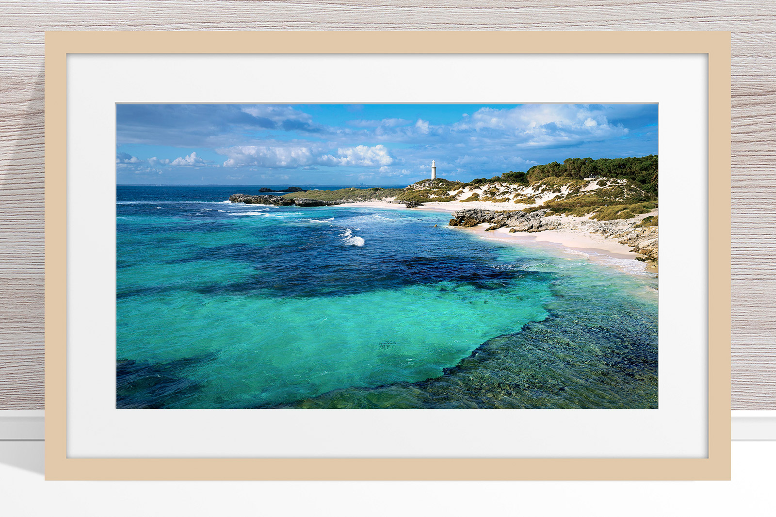 024 - Jason Mazur-'The Basin, Rottnest' Light Frame