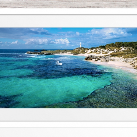024 - Jason Mazur-'The Basin, Rottnest' White Frame