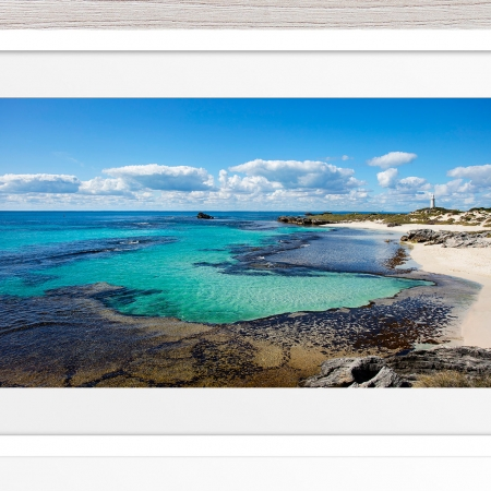 032 - Jason Mazur-'The Basin, Rottnest' White Frame