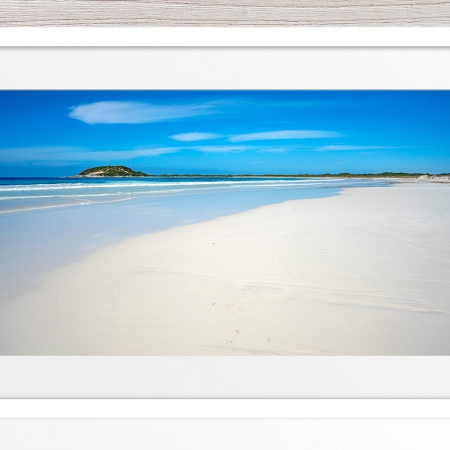 009 - Jason Mazur - 'Cape Le Grand Beachscape' White Frame